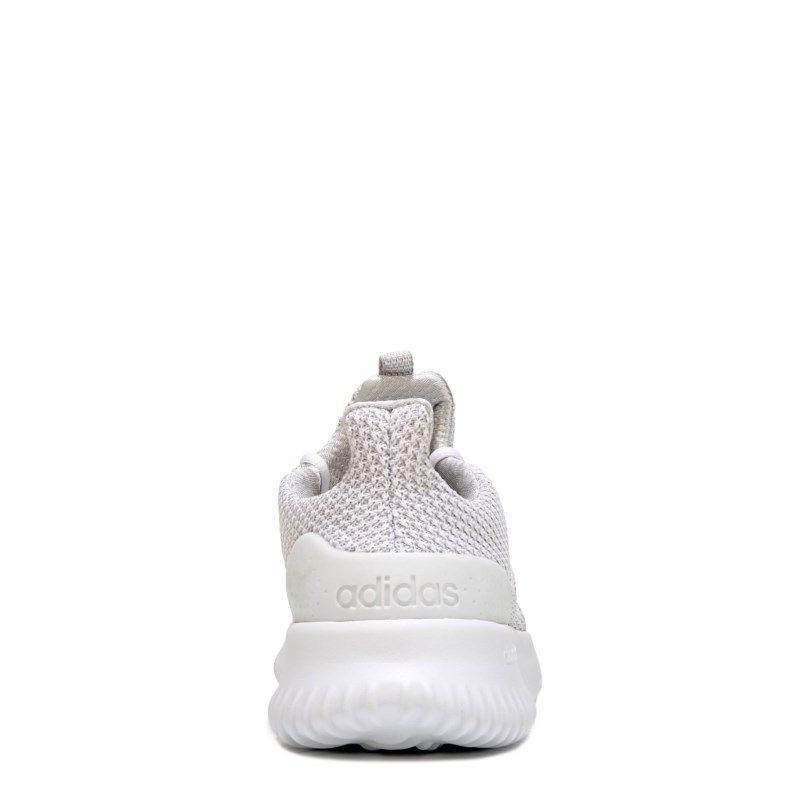 bfe4ccdebee9fa Adidas Kids  Cloudfoam Ultimate K Running Shoe Pre Grade School Shoes  (White Grey)