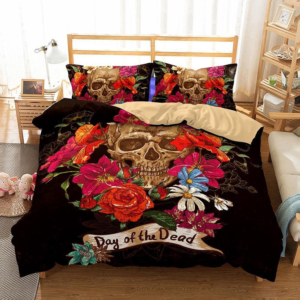 3d Bedding Set Skull Print With Images Bed Linens Luxury Bed