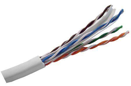 Hitachi CAT6 UTP Riser Rated Bulk Cable (CMR) - 4 Pair, 1000 Feet, Gray Color