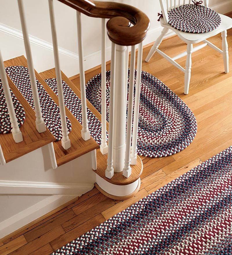 Beautiful Braided Stair Tread