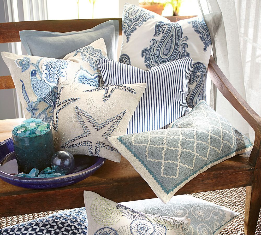 Going Coastal Pottery Barn Part I: 5 Ways To Use Pillows For A Seasonal Pop Of Color