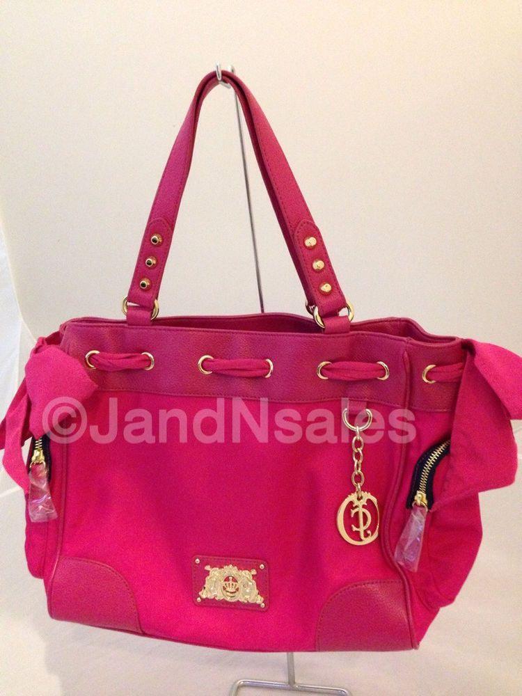 Juicy Couture Pink Nylon Daydreamer Purse Handbag Tote Satchel YHRUS070  #JuicyCouture #DaydreamerHandbag