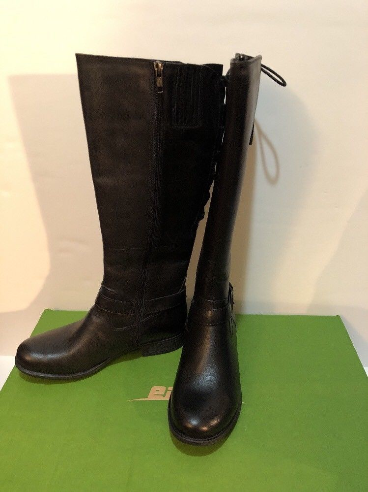 e88009aee4b NEW Earth Shoes Raleigh Women Black Tall Boot Waterproof Leather Comfort Sz  7  Earth  Tall