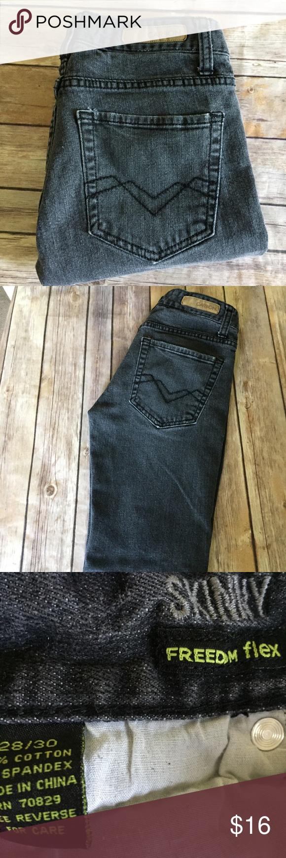 Carbon Jeans Gray Black 28x30 Freedom Flex Skinny Jean Grey Clothes Design Skinny