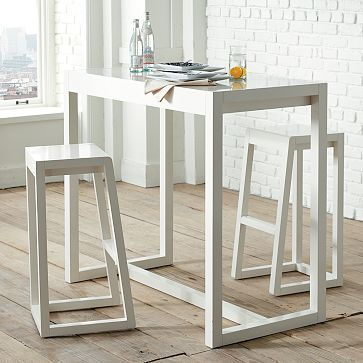 Alto Bar Stool And Table: Simple And Clean. Chocolate Oak Or Polished  White.    Small Kitchen Table/divider Between Living Room