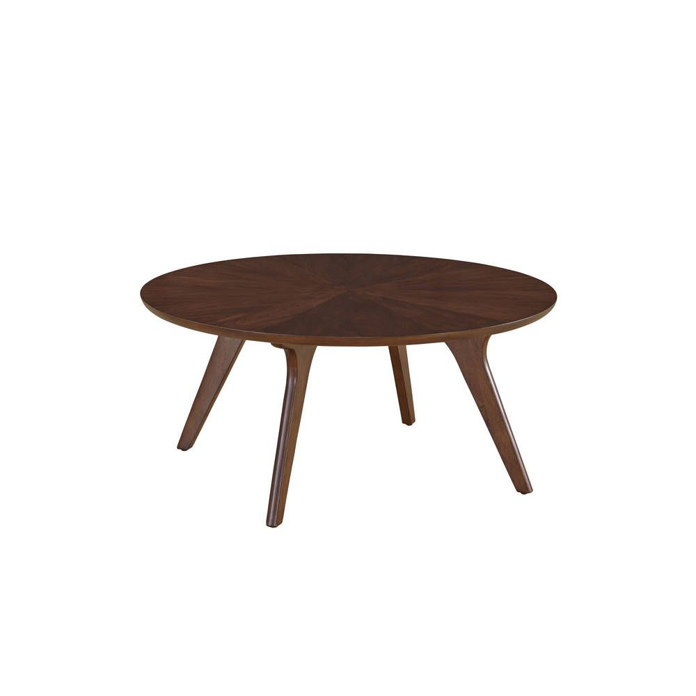 Mid century walnut finish hensen round coffee table overstock mid century walnut finish hensen round coffee table overstock shopping the geotapseo Image collections