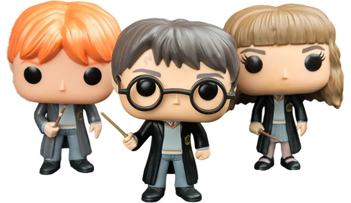 48 Harry Potter   Harry  Ron and Hermione Pop  Vinyl figures 3Pack      48 Harry Potter   Harry  Ron and Hermione Pop  Vinyl figures 3Pack