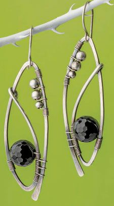 Wrapped Wire Earrings - would be cool with pearls or semi precious ...