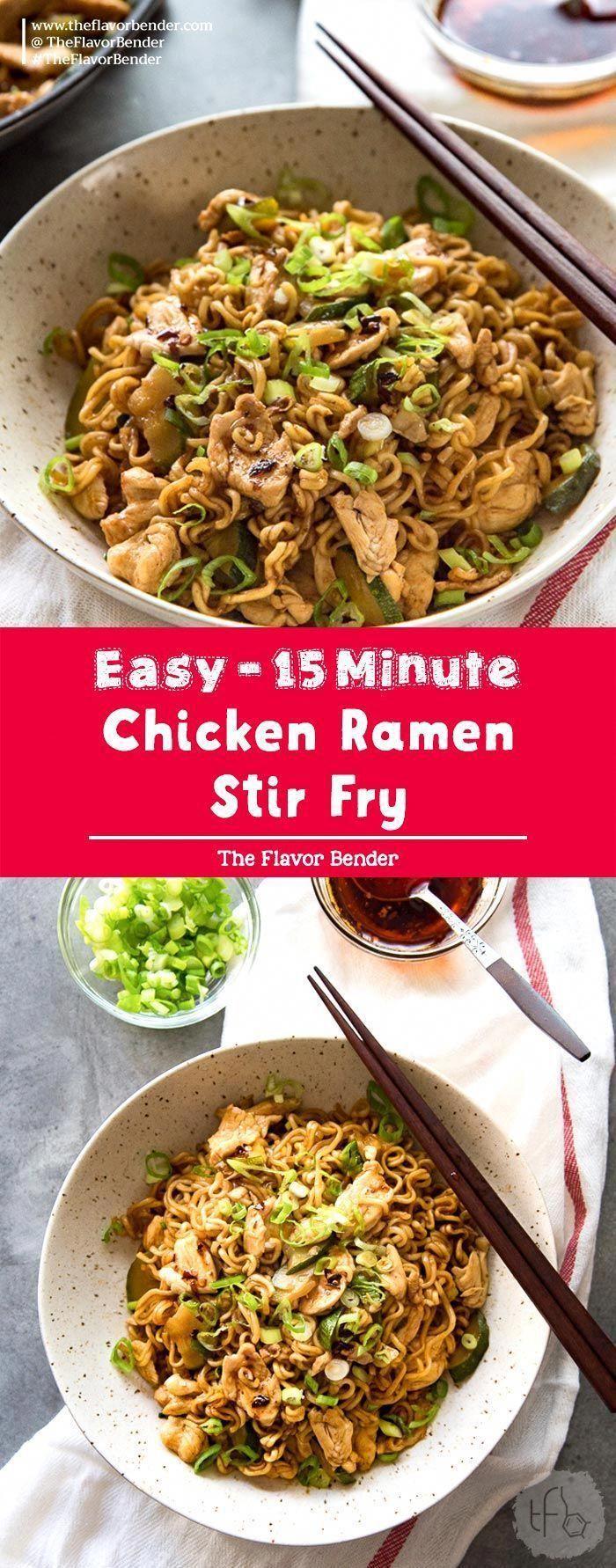 15 minute chicken ramen stir fry  a delicious way to