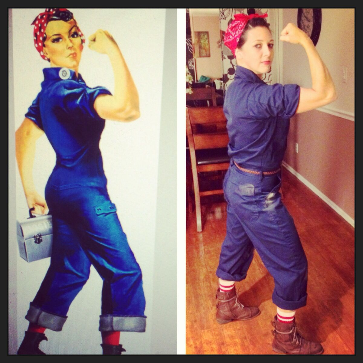 homemade rosie the riveter halloween costume - Rosie The Riveter Halloween Costume