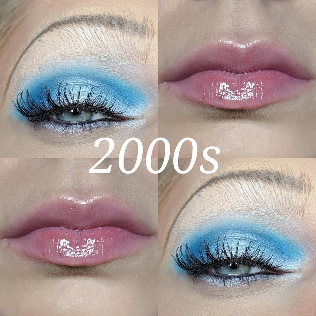 "Stephanie on Instagram: ""✨**2000's Makeup** ✨ The 2000s were all about the rise of the web, technology, & celebrity culture. Overall, the look was tan & shiny. You…"""