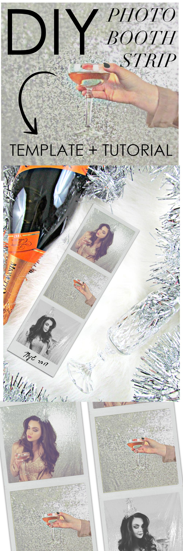 DIY Photobooth strip template + tutorial! | New Years Eve ...