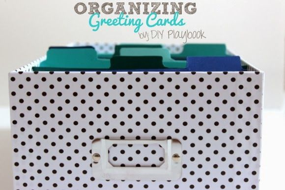 How To Organize Your Greeting Cards The Diy Playbook Greeting Card Storage Greeting Card Organizer Greeting Cards Diy