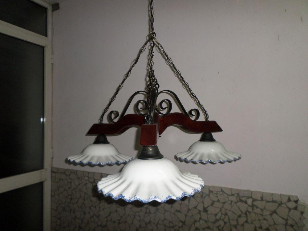 Lampadario Rustico Ceramica : Lampadario bilanciere rustico country luci piatti in ceramica