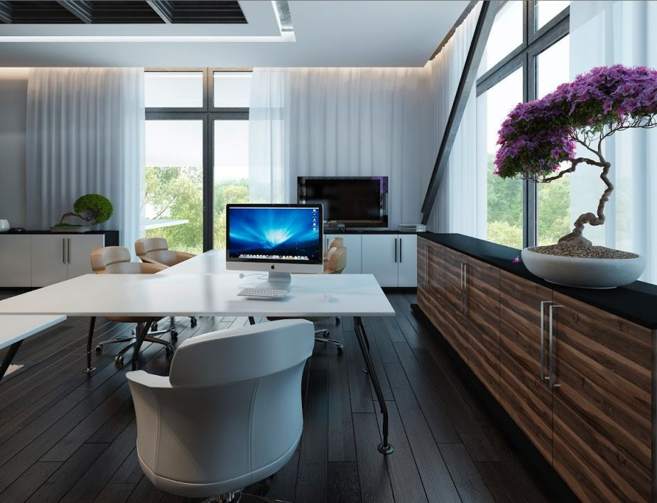 Zen office design Interior Space Wood White Dark Brown Bonsai Office Ideas Home Office Layouts Pinterest Space Wood White Dark Brown Bonsai Zen Office Home Office