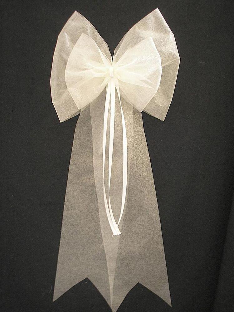 Pew Ends/Chairback Organza Sash Style Wedding Bows | wedding ...