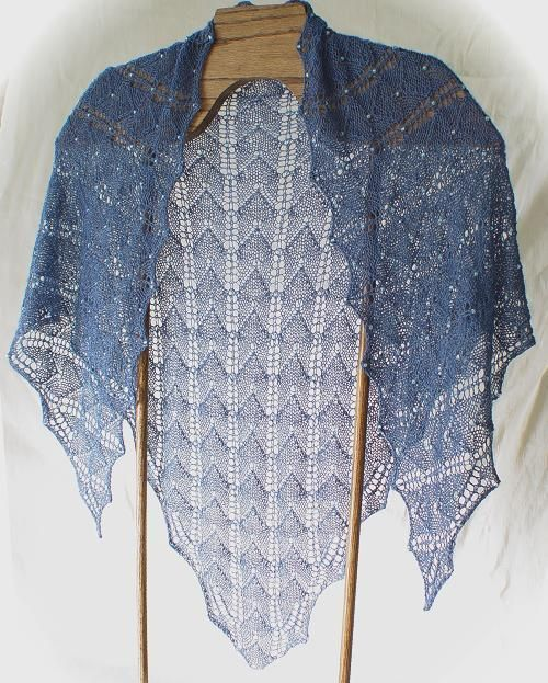 (6) Name: 'Knitting : Beaded Lux Shoulder Shawl