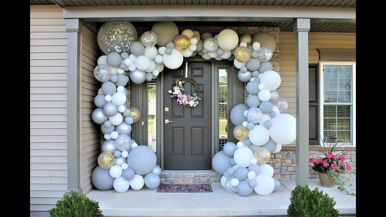 White Gray Outdoor Balloon Garland DIY How to Shimmer