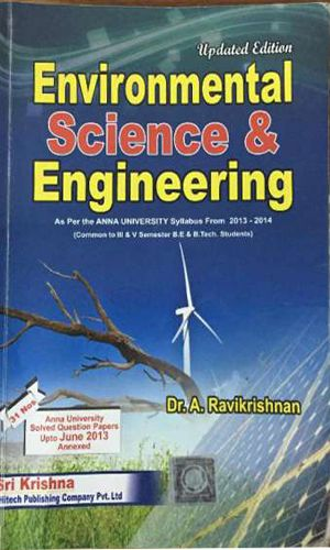 environment science full book ravikrishnan author