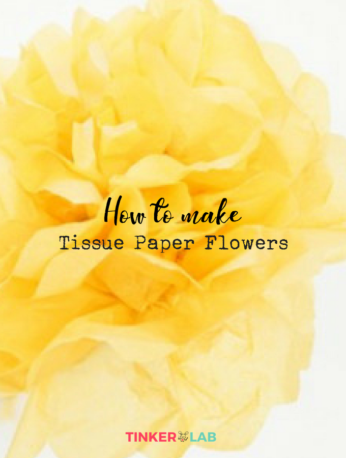 How To Make Tissue Paper Flowers Tissue Paper Flowers Easy