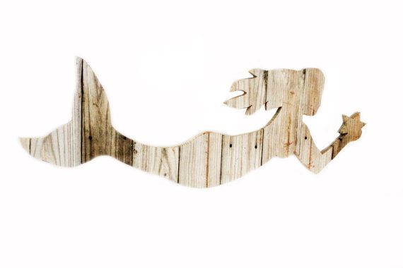 Mermaid Reclaimed Wood Sign by thesummeryumbrella on Etsy, $74.99