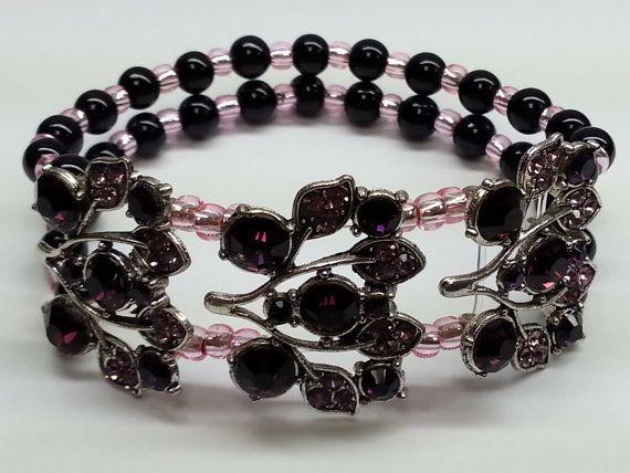 Bracele Unique pink purple black
