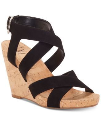 a99be314c7 I.n.c. Women's Landor Strappy Wedge Sandals, Created for Macy's - Tan/Beige  9.5M