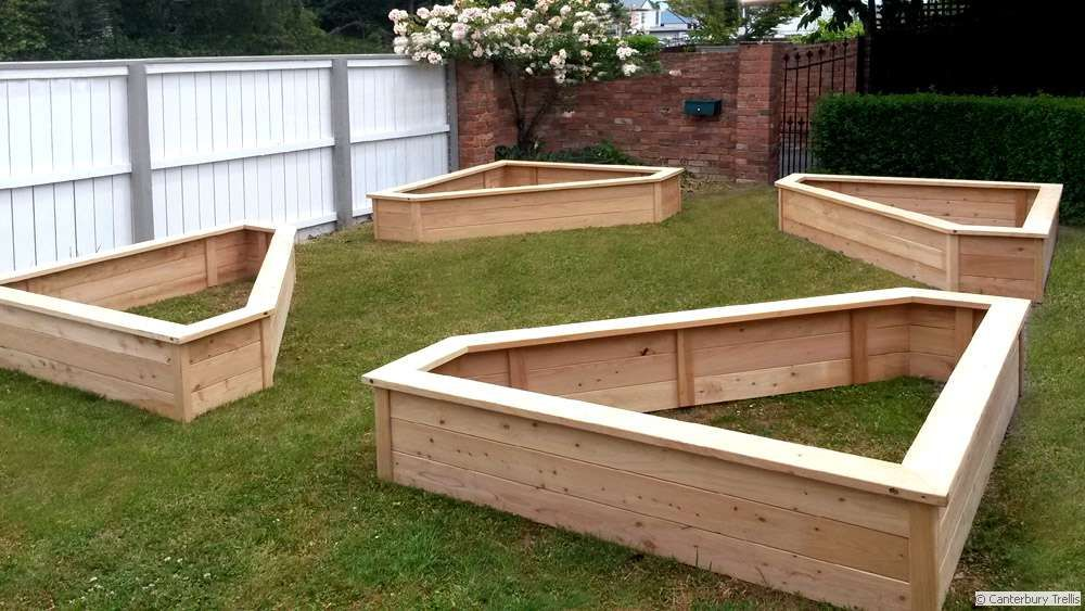 Triangle Planter Box Layout Garden Planter Boxes