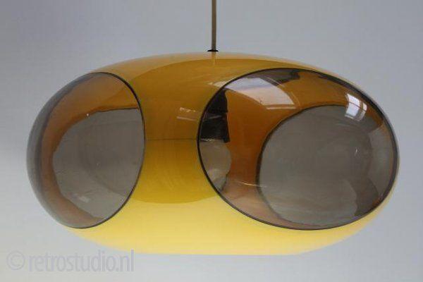 Luigi Colani hanglamp geel Klik op de afbeelding om het