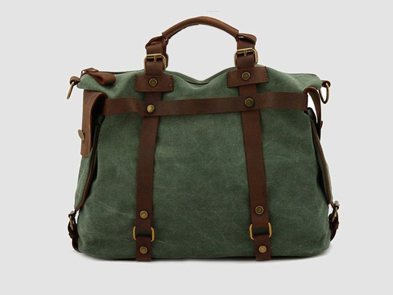 Fashion Messenger bag in Green / Briefcase / Messenger / Laptop / Men's Bag / Women's bag / travel bag / handbag / shoulder bag--T021