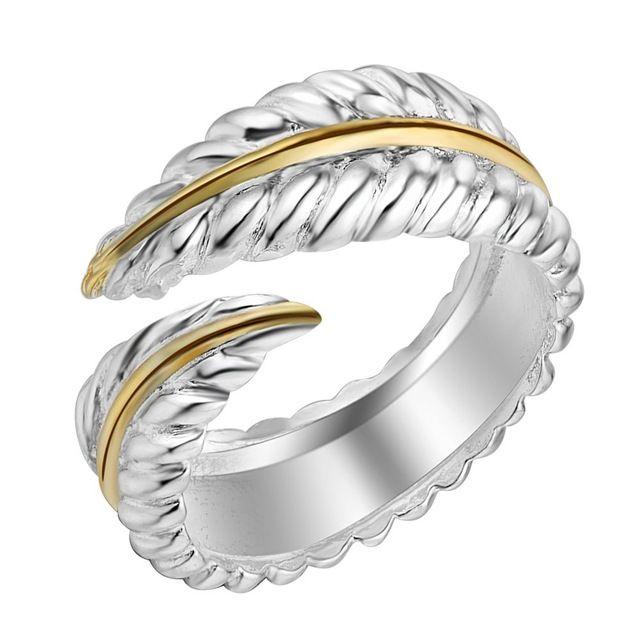 Collar De Plumas Grande de Plata Esterlina 925 Plata Oro Pluma Regalo Presente