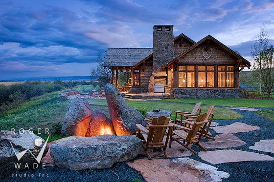 Log Home Cabin Photography Ovando Montana Log Home Living