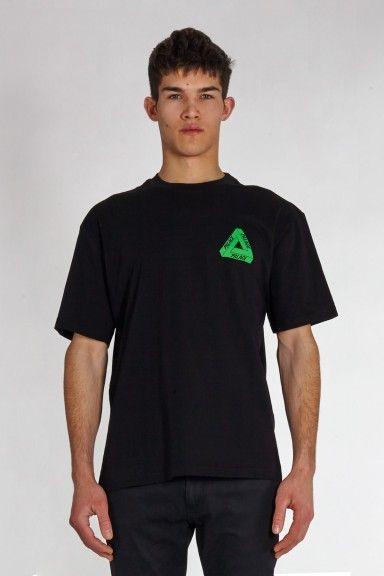 816918b81b58 Tri-Line Rasta T-Shirt Black buy on SlamJamSocialism