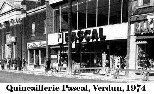 Quincaillerie Pascal Rue Wellington Verdun 1974 Verdun Montreal Vintage Photographs
