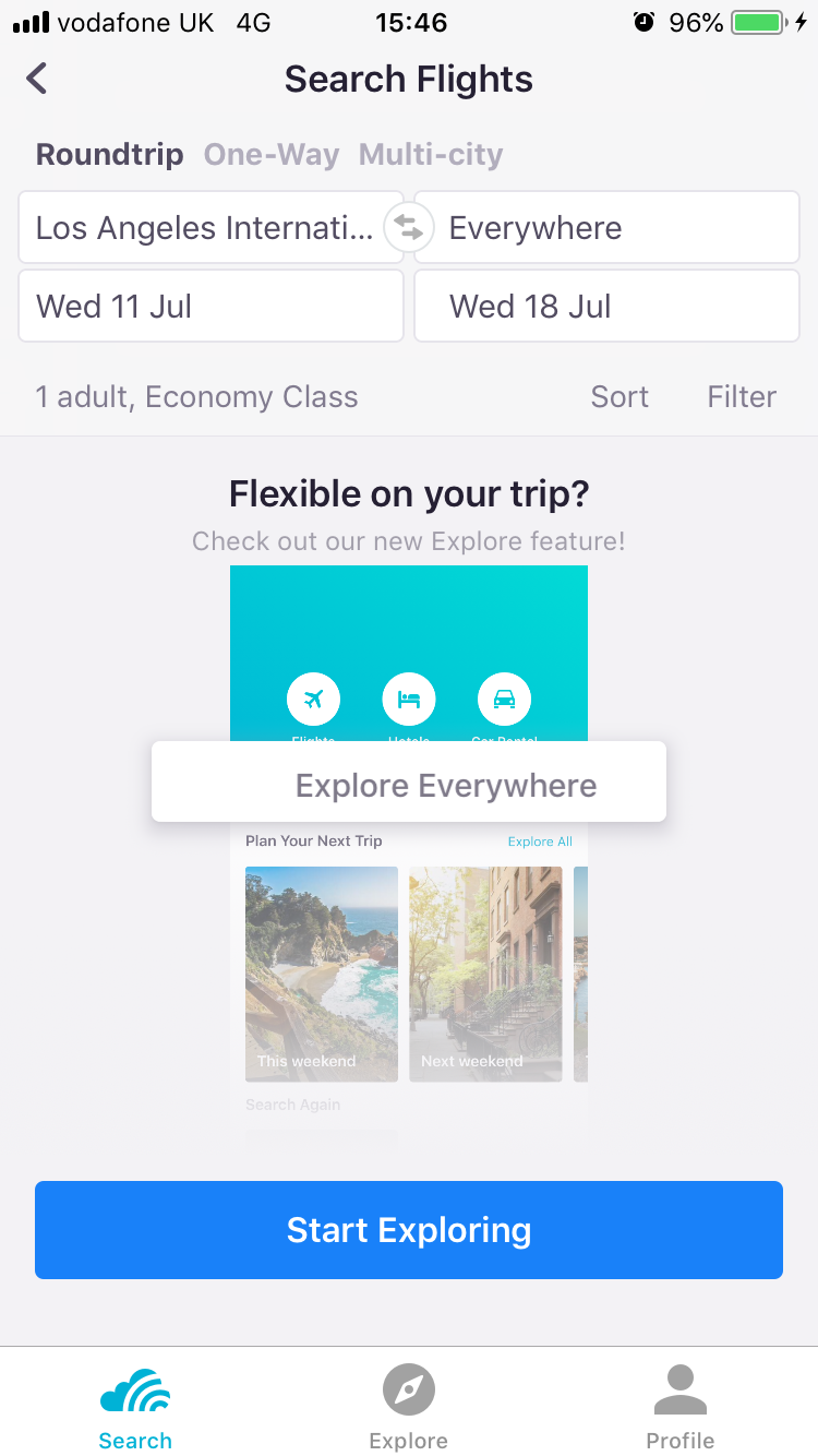 Explore Everywhere Within The App By Typing Everywhere Into The Destination Skyscanner Travel Skyscanner Travel Cheap Destinations