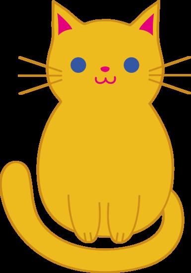 free clip art of a cute chubby orange kitty cat sweet clip art rh pinterest com free cat clip art outline free cat clip art thank you