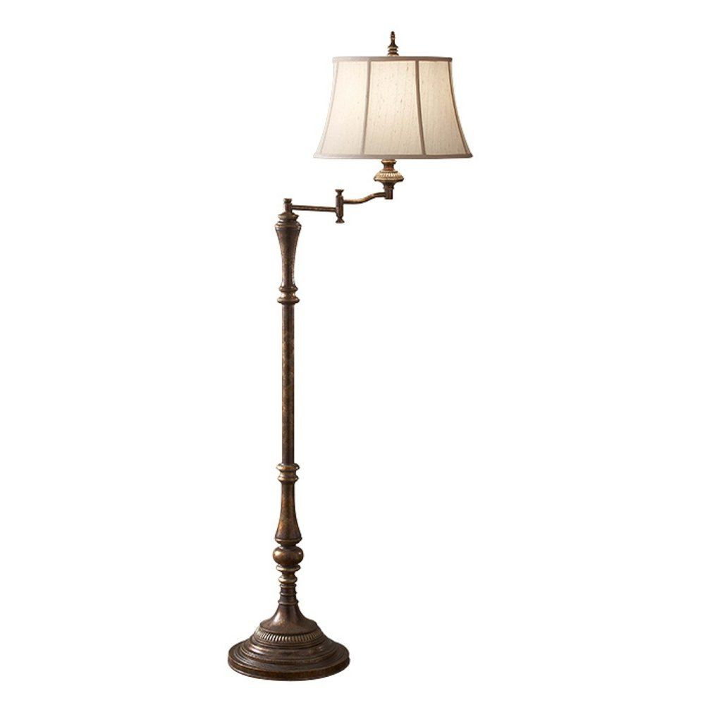 Gibson Traditional Swivel Arm Standard Lamp With Shade Floor Lamp Swing Arm Floor Lamp Lamp