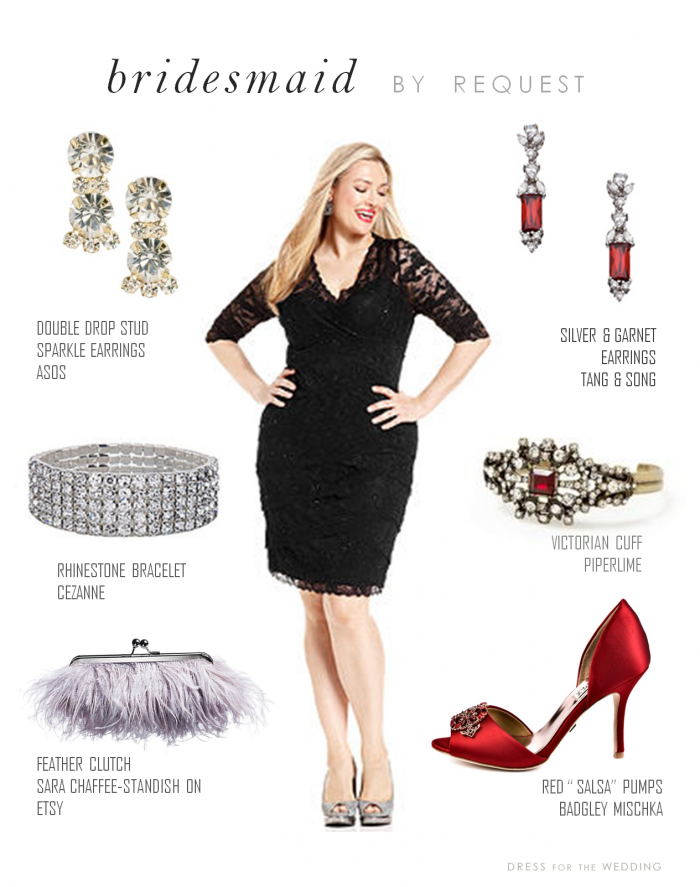 Accessorize Black Lace Dress Reader Request Tail With Red Shoes And Accessories