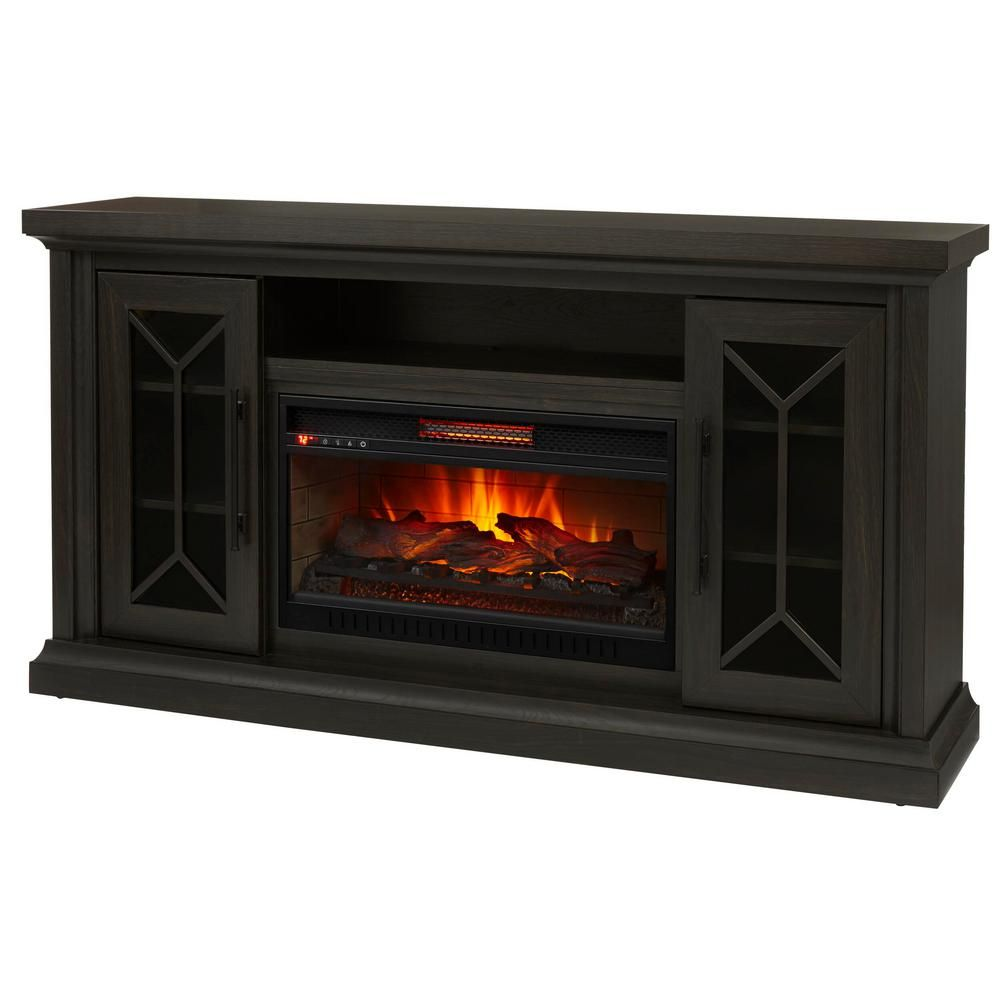 Home Decorators Collection Madison 68 In Media Console Infrared Electric Fireplace In Dark Chocolate Hdfp68 47 The Home Depot Fireplace Home Decorators Collection Electric Fireplace