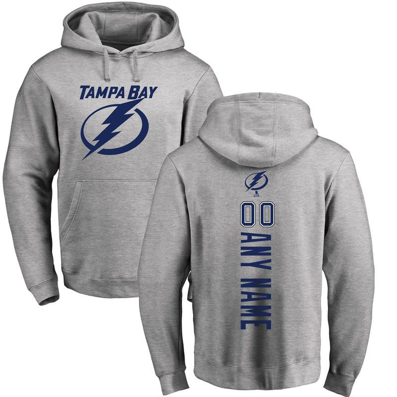 fca2a51fe Tampa Bay Lightning Fanatics Branded Personalized Backer Pullover Hoodie -  Ash