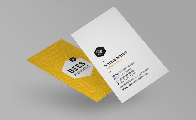 cartes visite bee architectes carte de visite