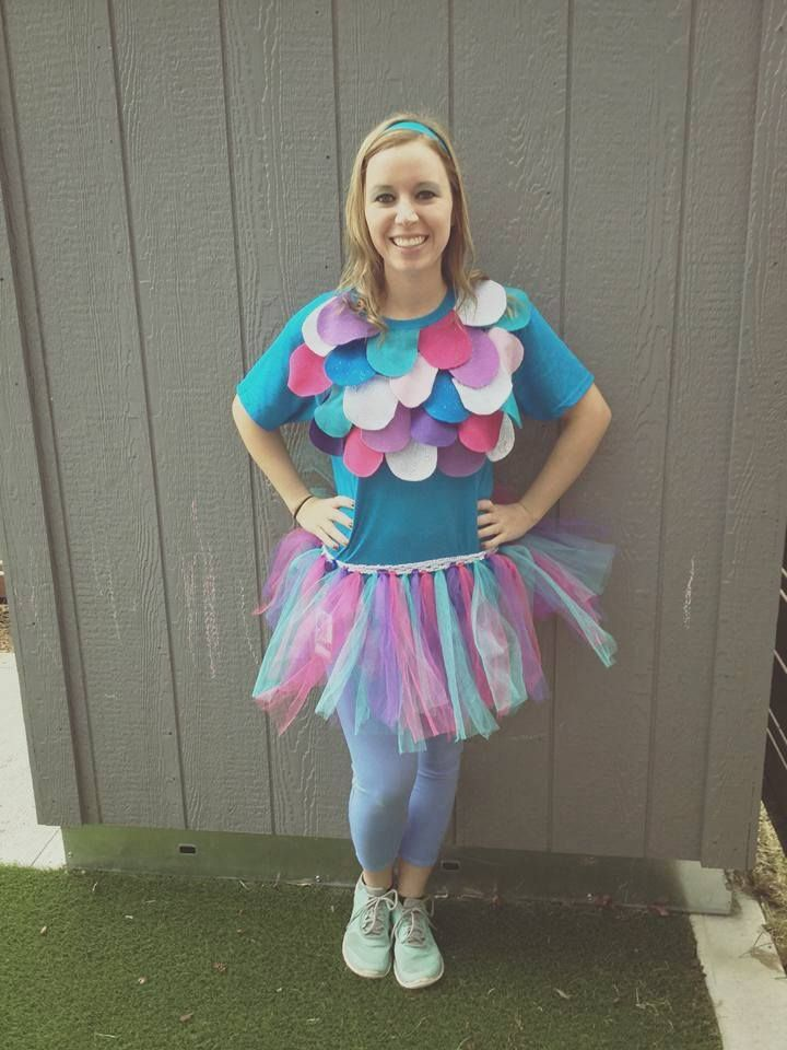 Rainbow Fish Costume Under 40 Dollars Tulle Headband T Shirt
