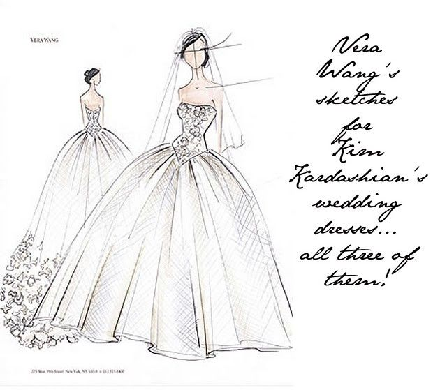 Vera Wang Sketches Wedding Dress Sketches Wedding Dress