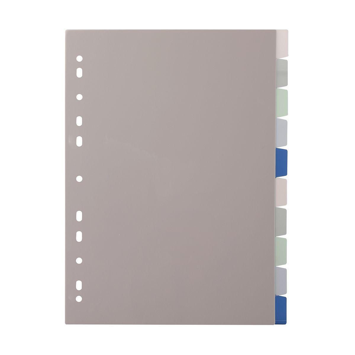 Plastic Divider 10 Tabs Kmart Binder Folder Divider Ring Binder Folders