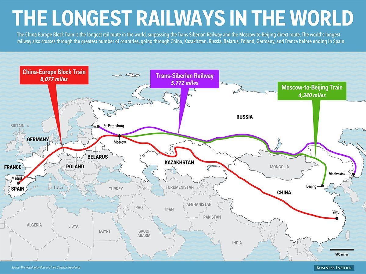 The World S Longest Railway Is Stalled In Madrid Train Map Map World