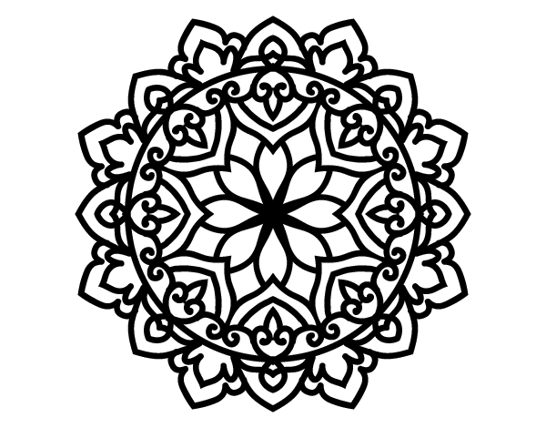 Celtic mandala coloring page to color print or download Color