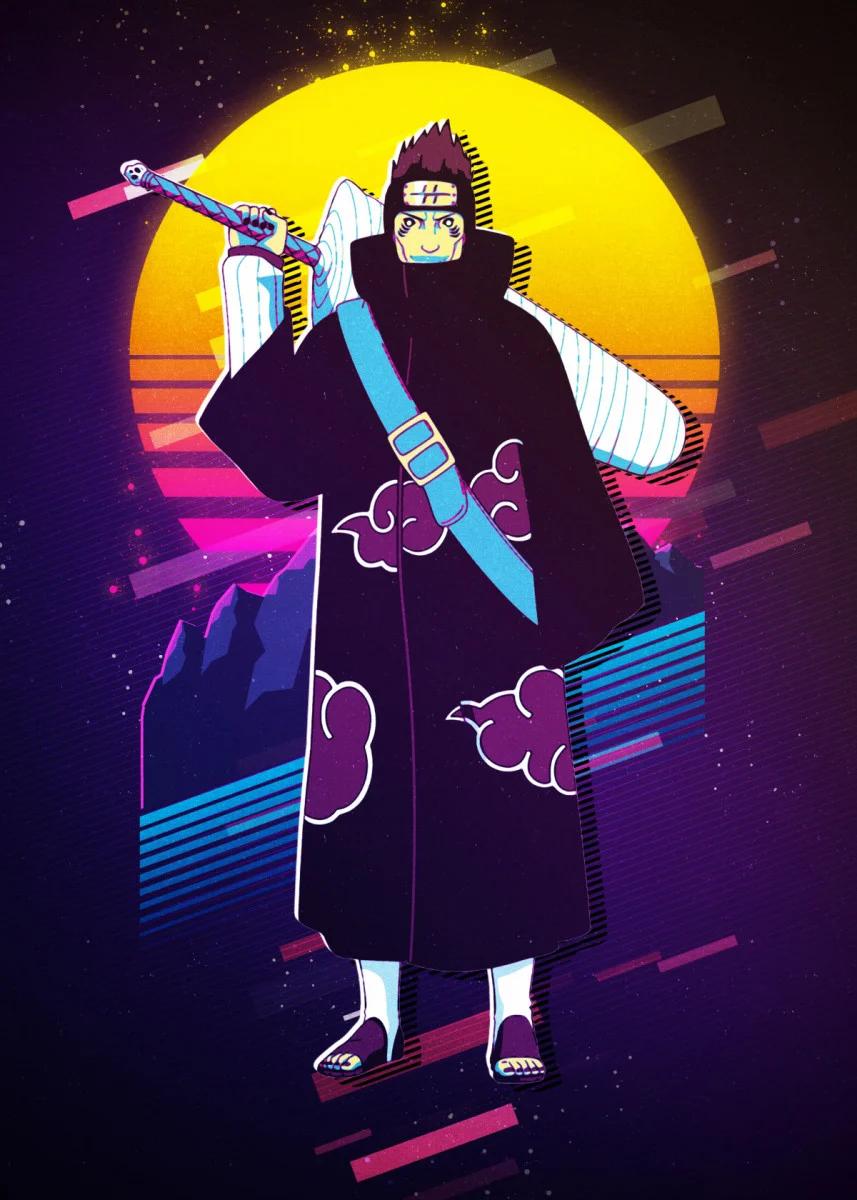 Kisame Hoshigaki Metal Poster 80sretro Displate In 2020 Anime Wall Art Anime Decor Print Artist