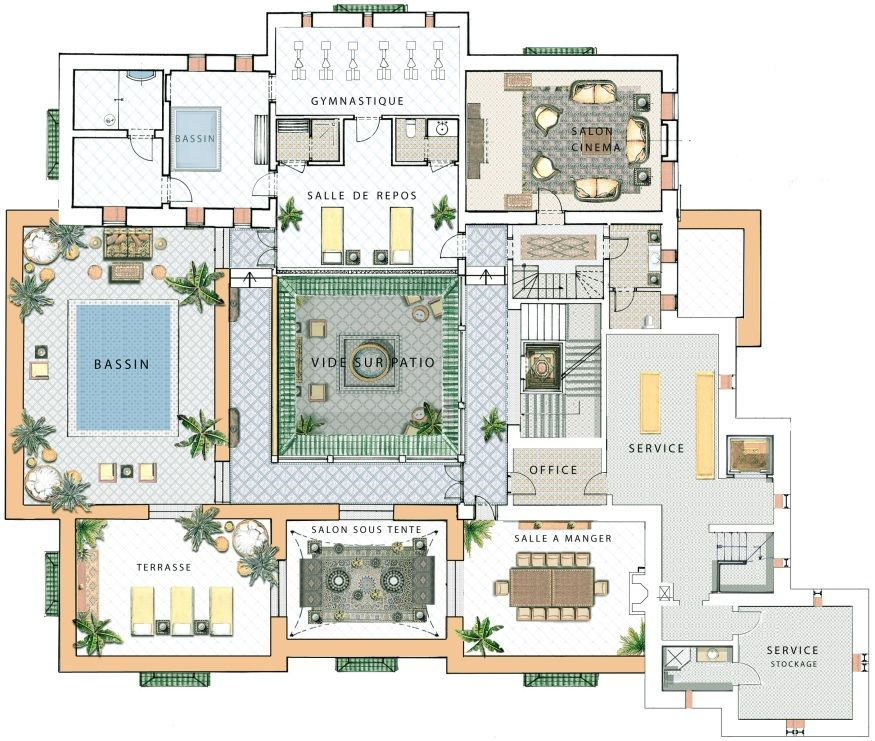 Exceptional Riad In Marrakesh Grand Riad Royal Mansour Home Design Floor Plans Architectural Floor Plans House Construction Plan