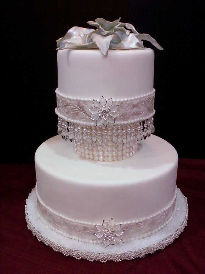 pearl ribbon for wedding cake quot it s all about pearls quot wedding cake the ribbons and 18167