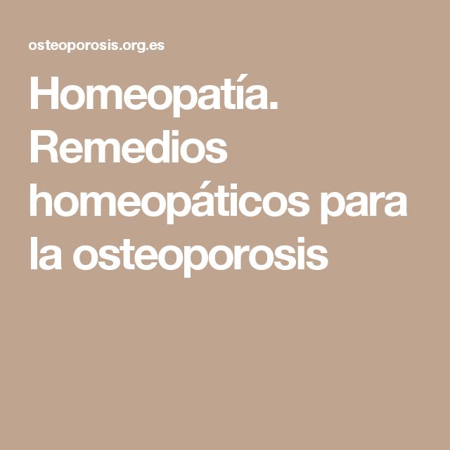 Medicamento homeopatico para osteopenia